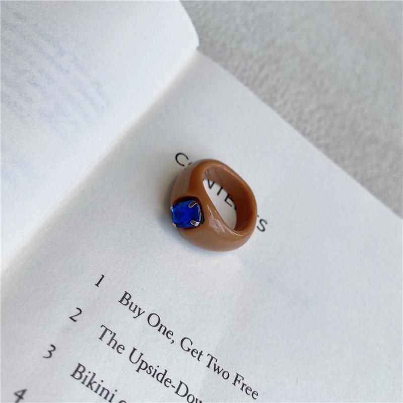 中國代購 中國批發-ibuy99 韩国可爱创意糖果色小众设计师宝石镶嵌简约个性指环戒指女