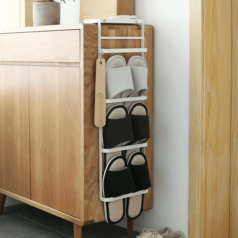 Lazy Corner Cabinet Hanging Shoe Rack Home Simple Foyer Cabinet Bathroom Wrought  Iron Slipper Hanging Storage