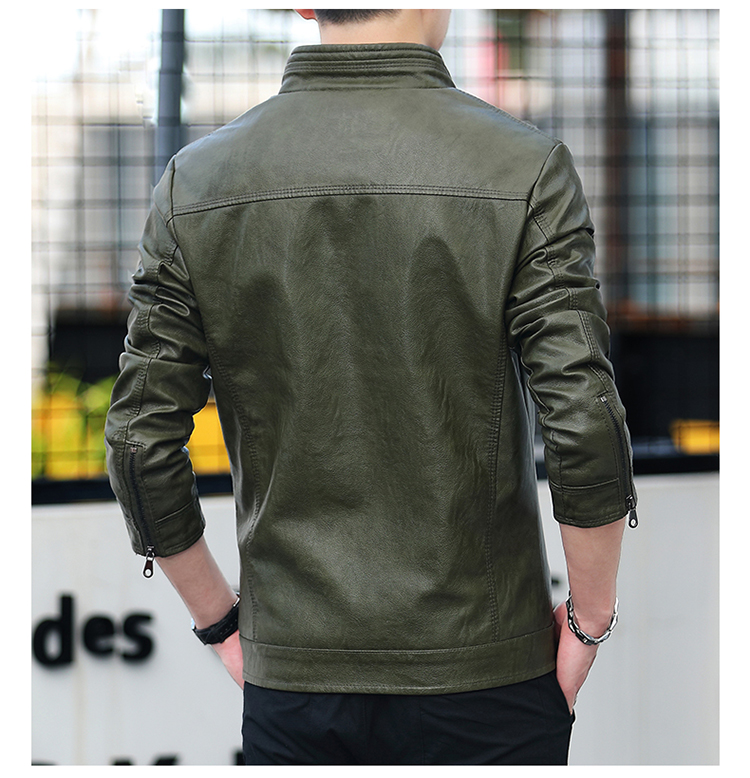 Men's leather 2020 autumn/winter new leather jacket handsome big size locomotive clothes trend a hundred men's jackets 51 Online shopping Bangladesh