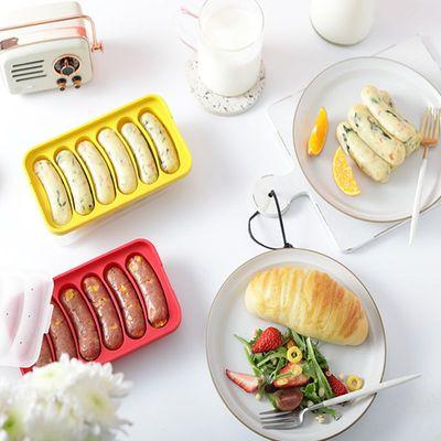 乐葵香肠模具宝宝辅食硅胶食品级蒸煮自制婴儿童烤肉肠火腿肠磨具