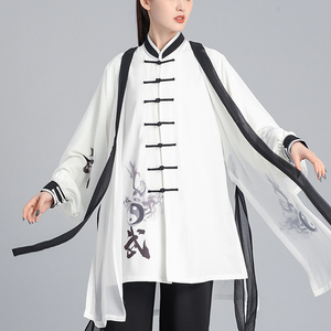 Tai chi clothing chinese kung fu uniforms Tai Chi Clothingquan training clothes women new elegant 3-piece martial arts performance clothes men Chinese Style Tai Chi performance clothing