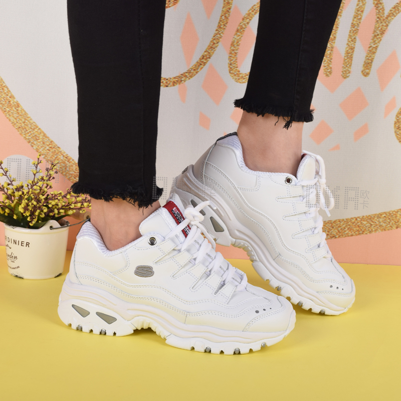 aa9df80fd445 Skechers Skechers shoes D lites embroidered panda shoes 2018 new platform  casual shoes 11977