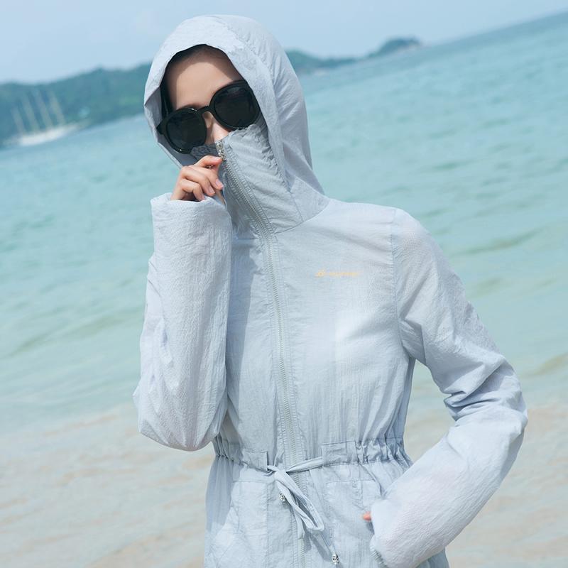 防晒衣女2018夏季新款中长款韩版沙滩防晒服衫百搭薄款宽松外套潮