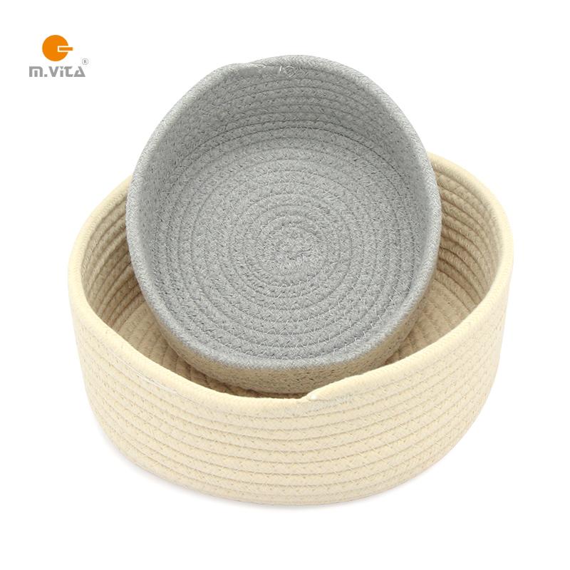 蒙生教育蒙台梭利日常生活教具圆形棉线收纳筐已知物品篮子