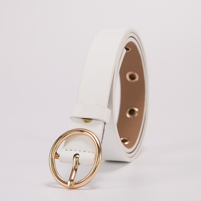 ML-12-ROUND BUCKLE-WHITE
