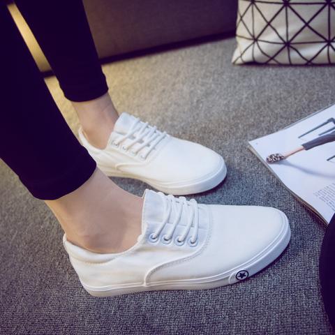 小白鞋学生跑步运动鞋