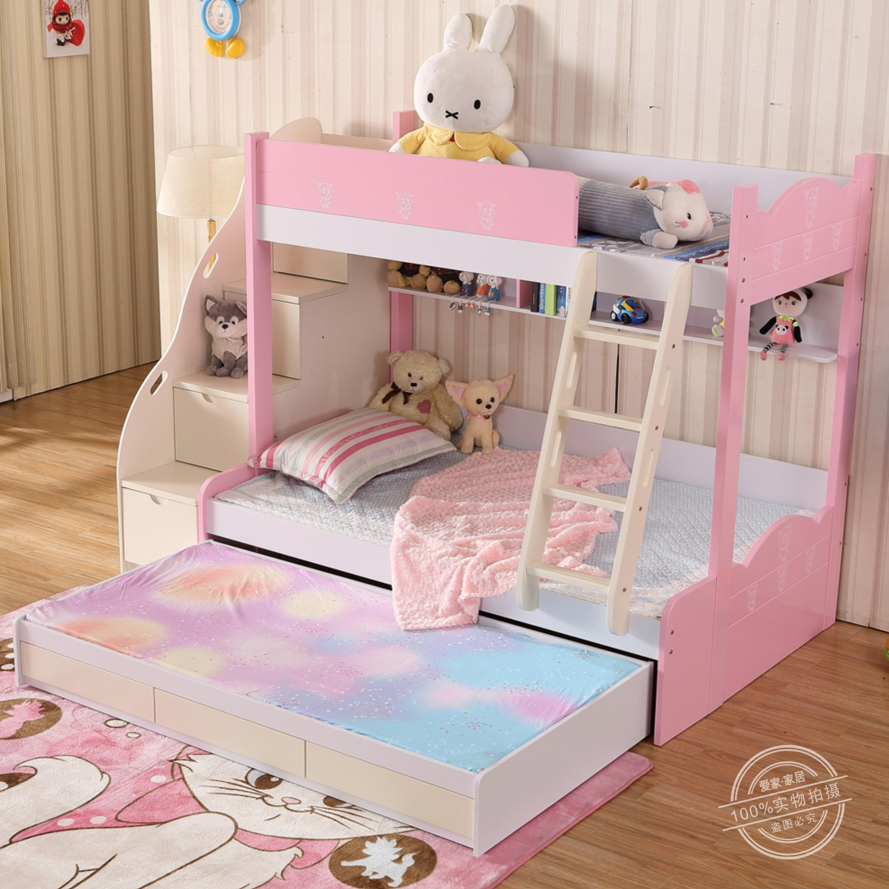 Usd 183 88 Children Bed Girl Korean Princess On And Off Bed Bed