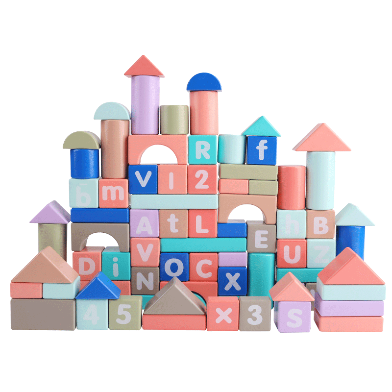 Young Children Building Blocks Beneficial Intellectual Brain Toys 3 Girls Baby 1 2 Years Old Boys Wood Assembly Early Education Multi Functional