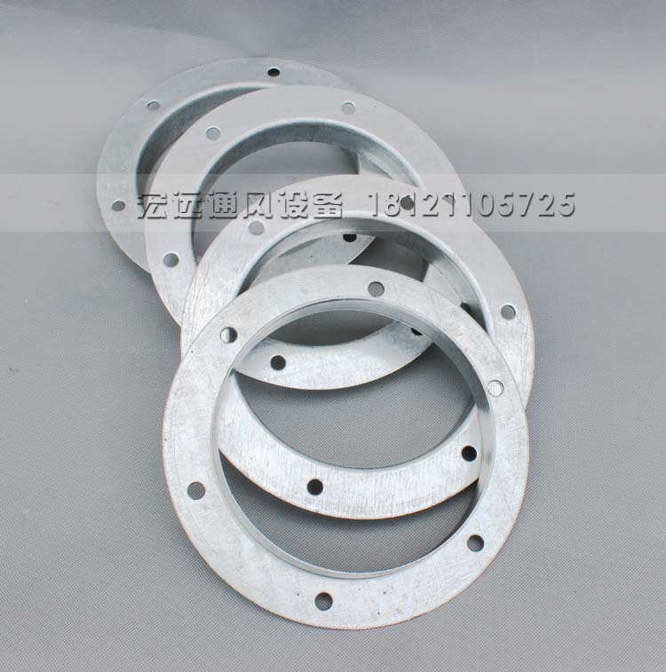 Round galvanized duct fan connection angle iron flange stainless steel  flange steel flange flat welding punching pressure ring