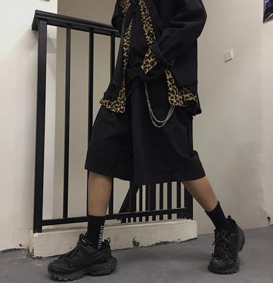 自制原创古着ins超火的工装宽松短裤休闲老爹五分裤男女同款中裤