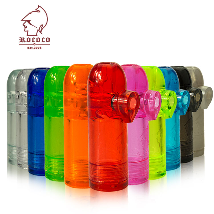 ROCOCO snuff bullet plastic snuff bottle benzene modern snuff tool  multicolor large anti-side leakage ZS