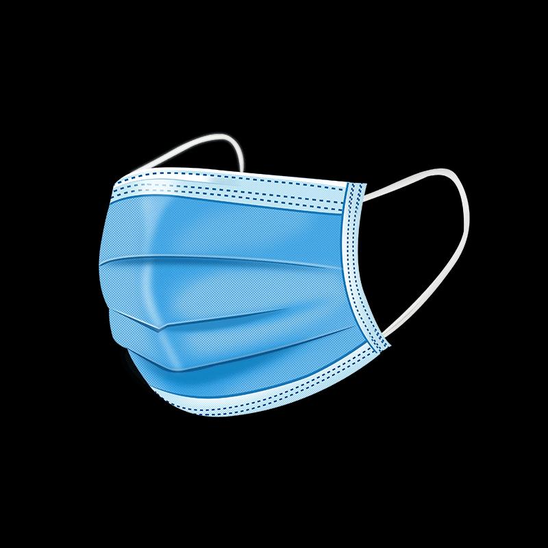 100只一次性防尘三层防护透气口罩