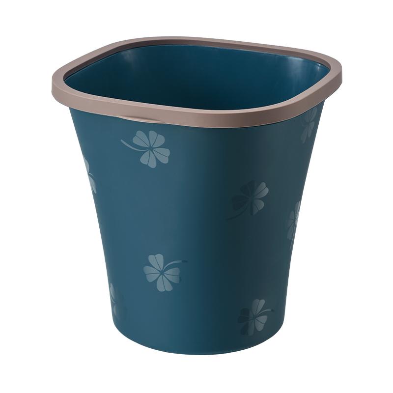 家用简约大开口垃圾桶客厅无盖大号创意塑料纸篓卧室厨房卫生间