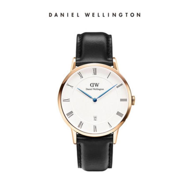 DanielWellington dw手表男士 38mm欧美蓝针皮带男表