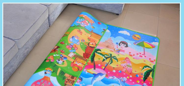 宝宝爬行垫加厚爬爬垫整张地垫无毒无味婴儿童家用地毯可摺迭游戏详细照片