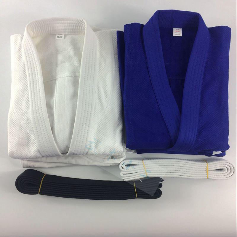 Специальность конкуренция использование мягкий дорога одежда обучение одежда бамбук чистые линии хлопок белый и голубой дорога одежда мягкий техника для взрослых детей