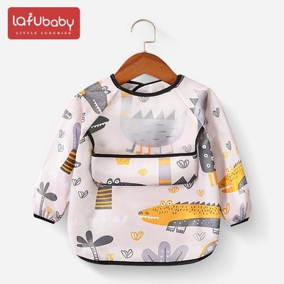 宝宝吃饭罩衣儿童秋冬外穿长袖防水防脏反穿衣婴儿春夏季外穿围兜