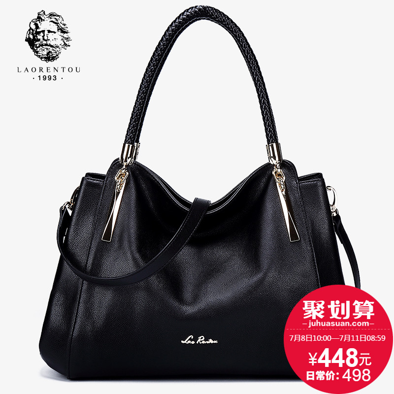 Elderly head leather bag handbags new 2019 fashion Messenger shoulder ladies large-capacity portable mother bag female