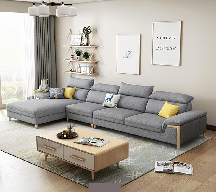 Ngành công nghiệp gỗ của Xiong Sofa sofa cát phong cách Bắc Âu phòng khách tối giản hiện đại đặt nội thất căn hộ nhỏ bằng gỗ cứng bên ngoài - Bộ đồ nội thất