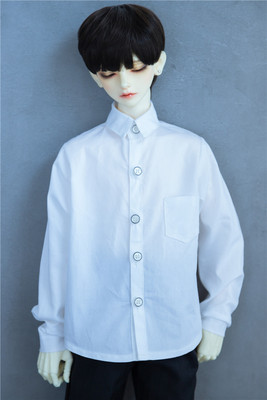 taobao agent 【Kaka Planet】BJD/SD 3 points 4 points doll clothes, ordinary shirt, black and white two colors