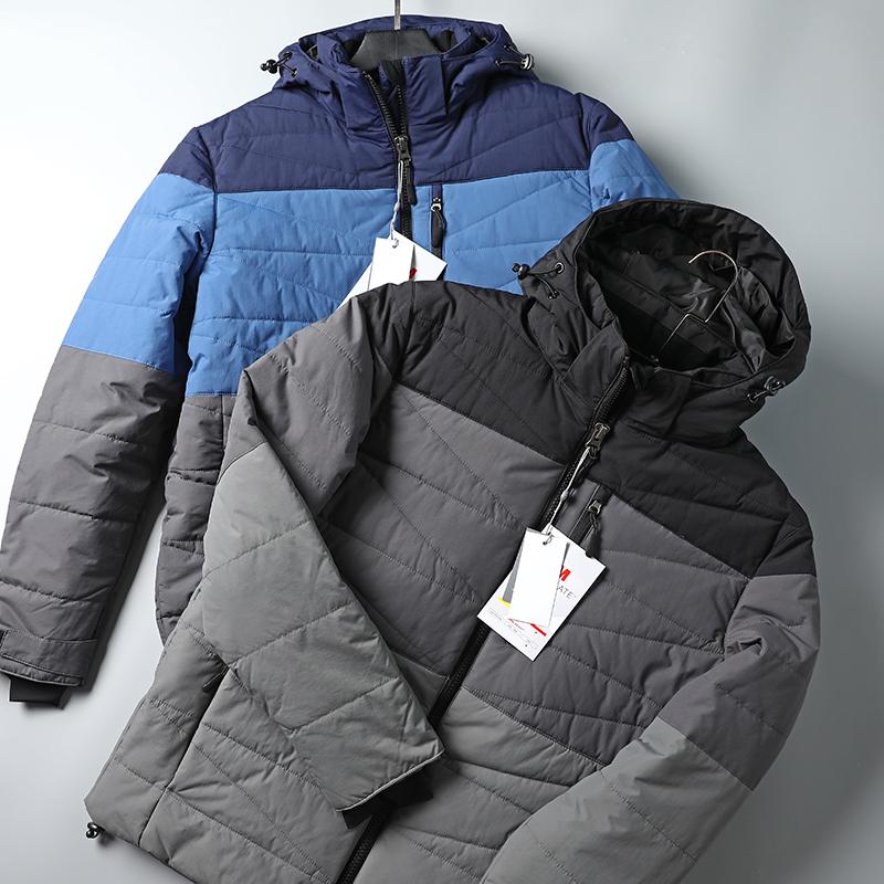 Có kích thước cộng! Công nghệ nhiệt ngoài trời vải! Chống gió và chống thấm nước! Áo khoác nam có đệm ấm - Trang phục Couple