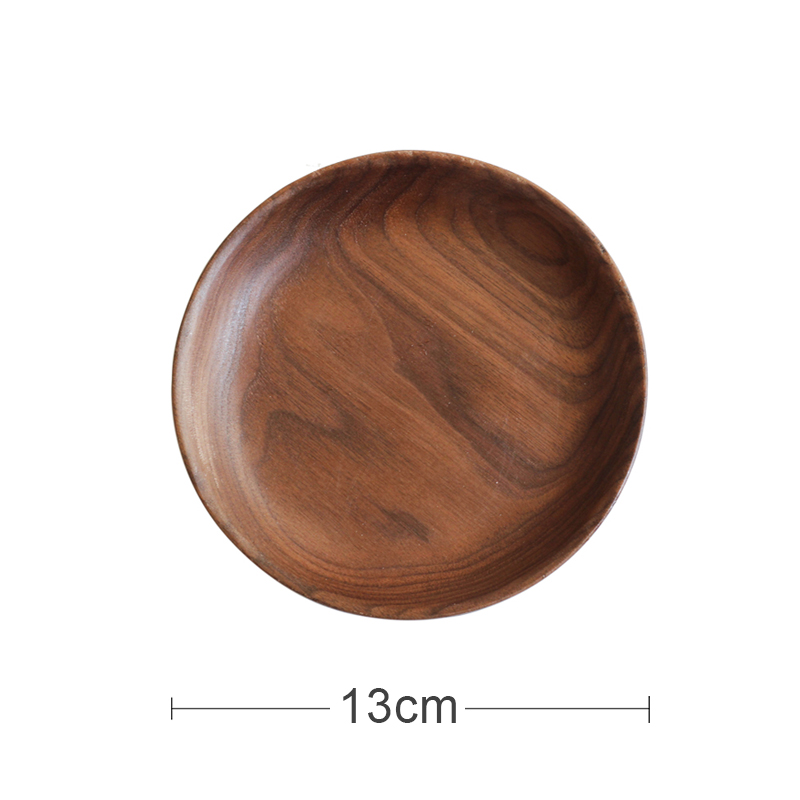 [SMALL] BLACK WALNUT ROUND DISH (DIAMETER 13CM)