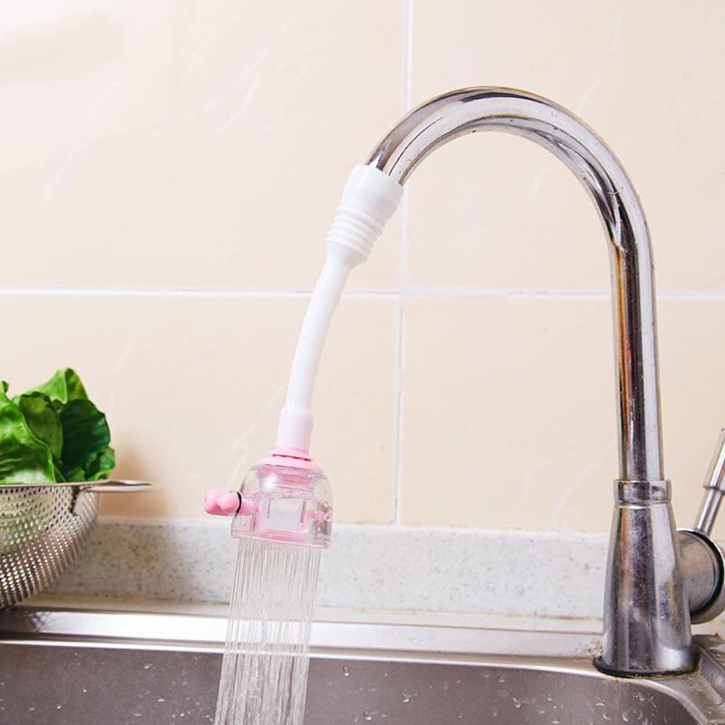日本厨房水龙头花洒防溅花洒洗菜延伸器可旋转水龙头喷头节水器