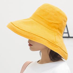 日系【双面可戴】大檐防晒渔夫帽