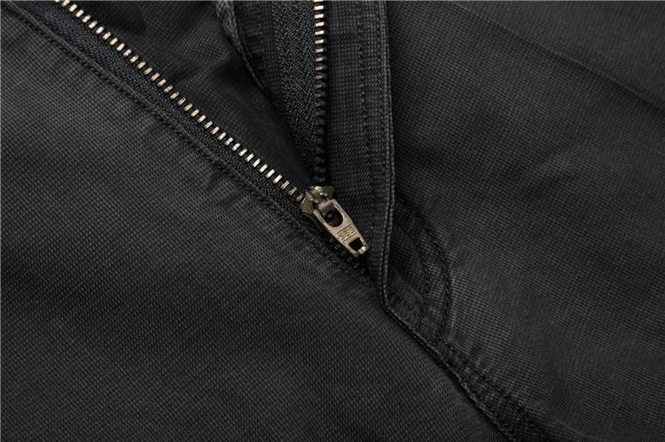 Haiyi tủ cắt tiêu chuẩn của nam giới 2018 mùa xuân màu đen giản dị quần kinh doanh hoang dã cao eo quần tây giản dị