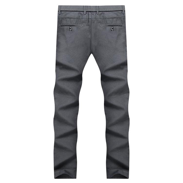Haiyi tủ quần áo của nam giới cắt tiêu chuẩn 2018 mùa xuân người đàn ông mới của kinh doanh trung eo quần overalls quần tây giản dị
