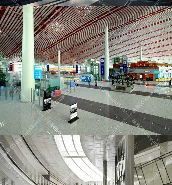 3DSMAX / VRay图书馆酒店大厅娱乐城豪华展厅公共室内场景3D模型