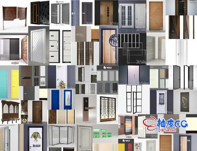 135个各式门3D模型合集