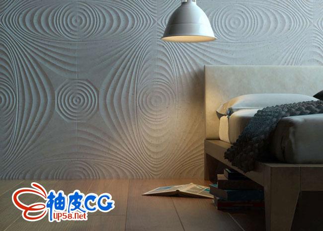 3DSMAX VRay室内设计装饰花纹墙3D模型