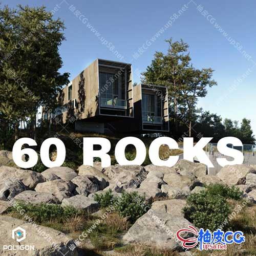 3DSMAX / VRay / Corona / FBX高精度逼真行星岩石3D模型+贴图素材库