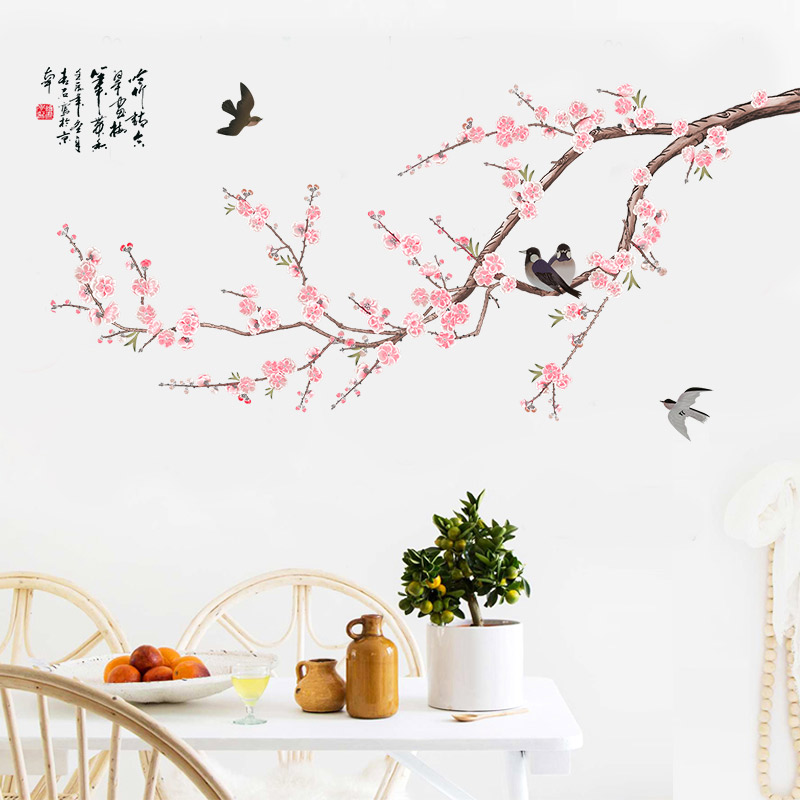 Usd 1247 Hand Painted Wallpaper Flowers And Birds Stickers Warm