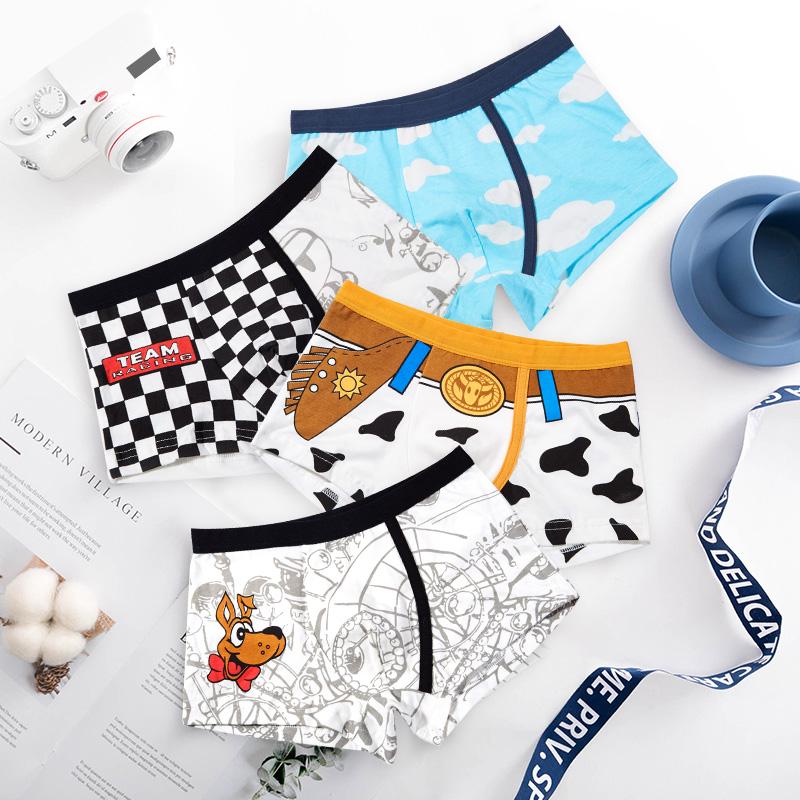 2546feea86 Children's underwear boys boxer pants 6 cotton 8 large children 10 boys  children 12 corners pants 15-year-old shorts