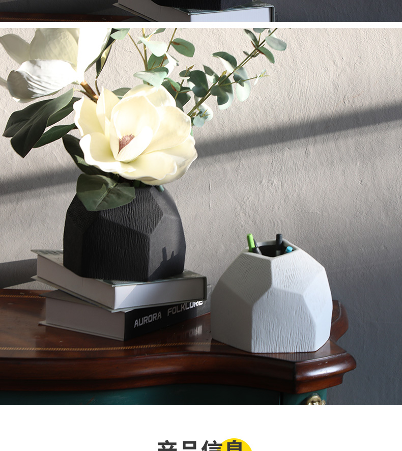 Nordic ceramic vases, I and contracted sitting room flower arrangement model geometric flower implement creative room decorate place hotel