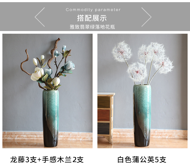 Modern jingdezhen ceramic vase flower arrangement of large sitting room place, Chinese style porch flower implement mesa ins vase
