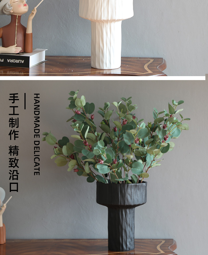 Light and decoration ceramics round tray was Nordic fashion simple ideas sword mountain flower arranging furnishing articles between example sitting room tea table is received