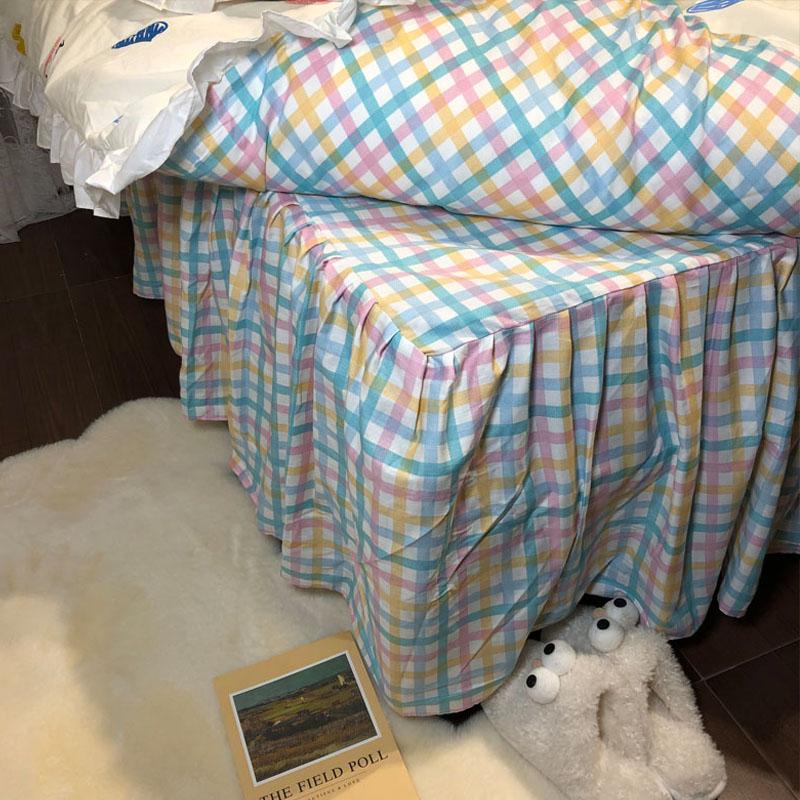 公主风韩式少女心床裙四件套全棉纯棉被套三件式床组床上用品详细照片