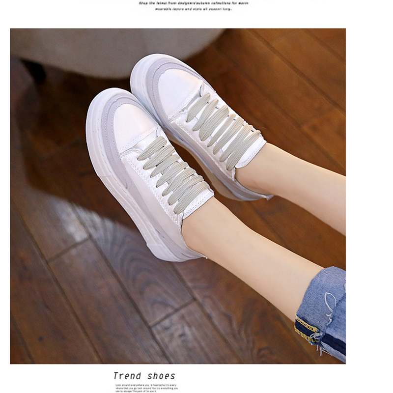 XWWDVV Spain niche shoes casual versatile canvas shoes new thick bottom flat white shoes women 47