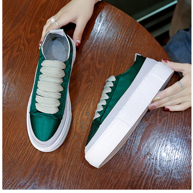 XWWDVV Spain niche shoes casual versatile canvas shoes new thick bottom flat white shoes women 56