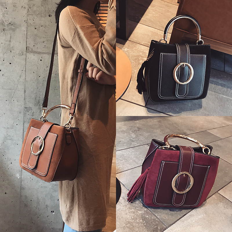 01c800e6d5d6 Tassel bag female 2018 New Wave Korean version of the wild messenger bag  fashion frosted small