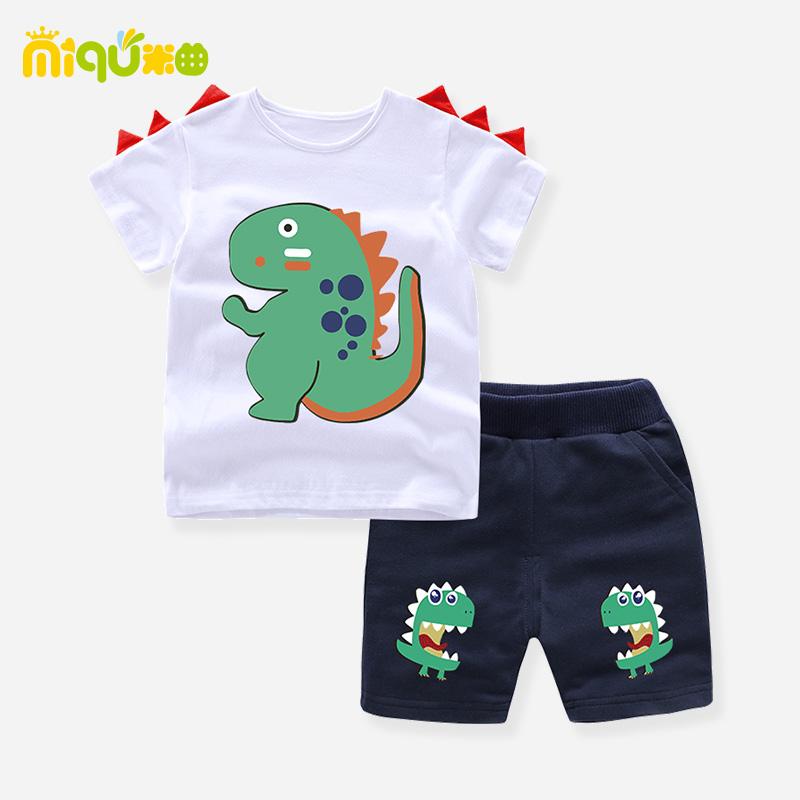 男童装夏装1-2-3-45一周岁婴儿幼儿童衣服男宝宝男孩夏季两件套装
