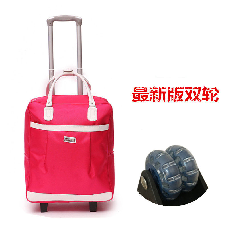 Rose Red Trolley Bag (2 Rounds)
