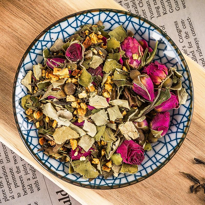 荷叶茶玫瑰荷叶茶叶纯干玫瑰花茶袋泡花草茶组合天然决明正品子茶