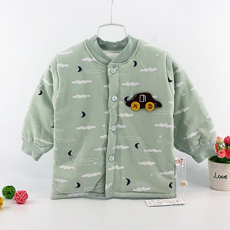 【南极棉保暖小袄】秋冬季开衫夹棉上衣纯棉内胆婴幼儿加厚丝棉袄