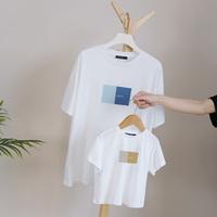 Разные родители и дети летом, семья из трех, четырех короткий рукав Мать и дитя одевают мать и дочь, папу и сына, футболку