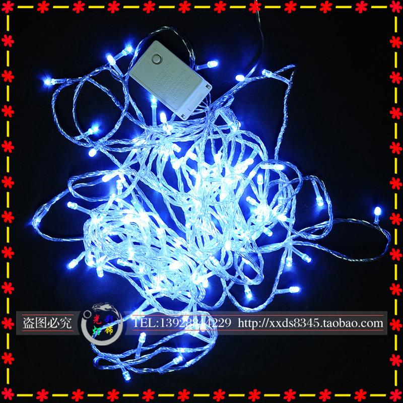 Световое украшение светодиодный фонарь мигалки огни строки светодиодные строки свет звездного света на Рождество праздник фонарей фонарь 10 метров 100 Лампа