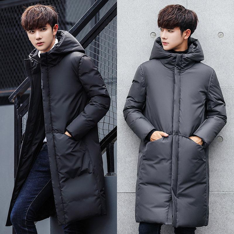 羽绒服男2018冬季新款男士外套中长款羽绒衣加厚潮流帅气男款冬装